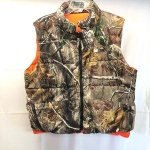 Deer Camp Camo Safety Vest Men's Large
